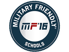 Designated Military Friendly School by Victory Media, 2016