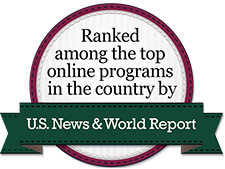 Ranked among the top online programs in the country by US News and World Report.