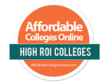 Ranked as a High ROI College by AffordableCollegesOnline.com.
