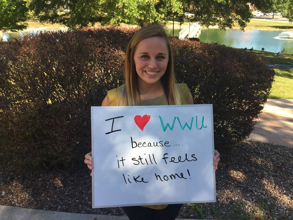Alicia Delaney - I love William Woods because it still feels like home!
