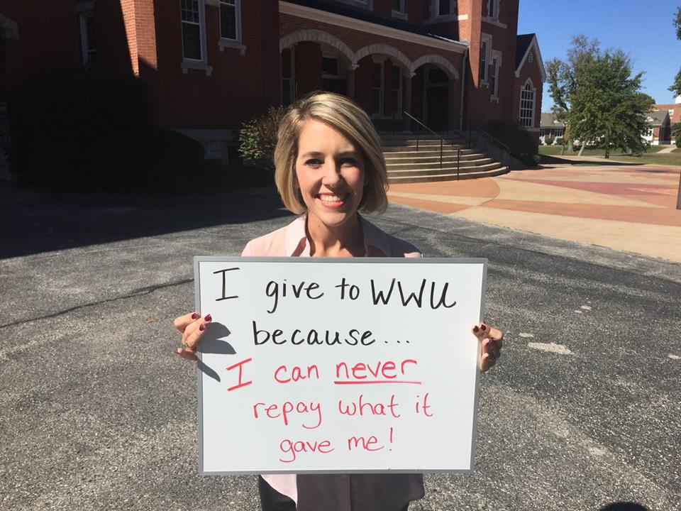 Christi Slizewski Tennyson - I give to WWU because I can never repay what it gave me!