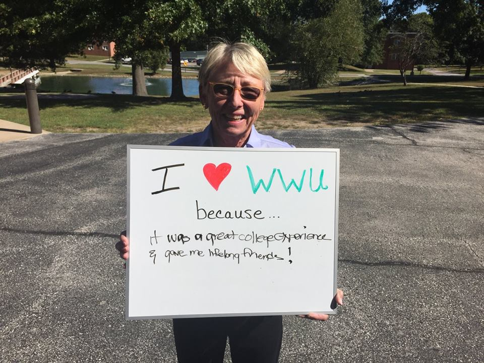Gwen Mersky - I love WWU because it was a great college experience and gave me lifelong friends!