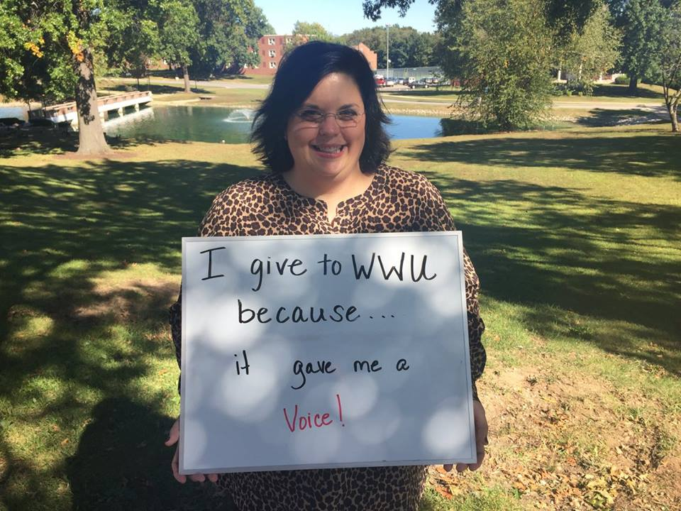 Jennifer Daggs Furkin - I give to WWU because it gave me a voice!