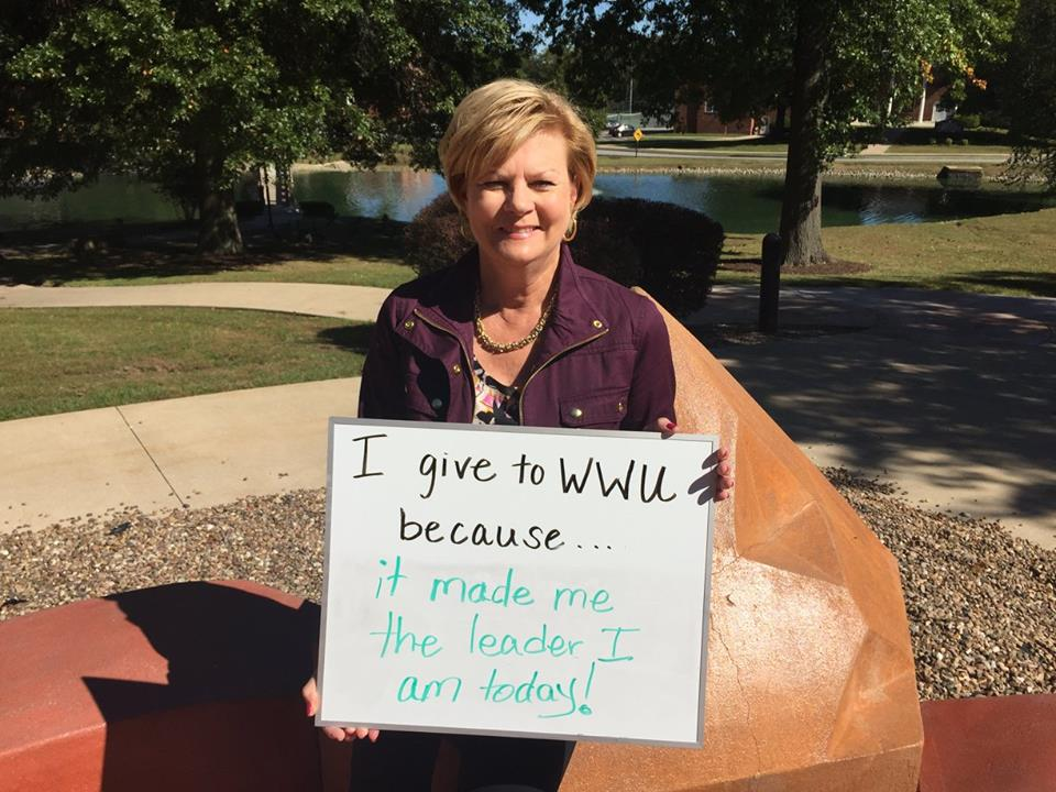 Karla DeSpain - I give to WWU because it made me the leader I am today!