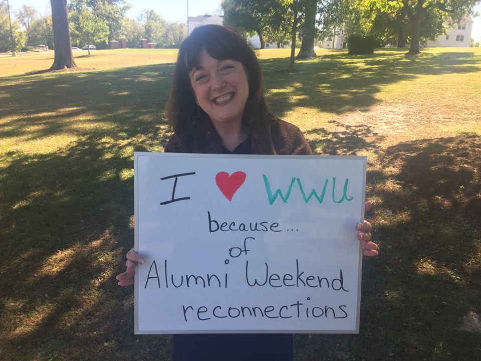 Margaret Holmquist - I love WWU because of Alumni Weekend reconnections!