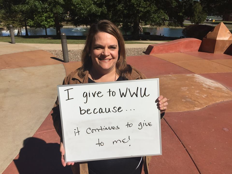 Stephanie Westwood Rothermich I give to WWU because it continues to give to me!